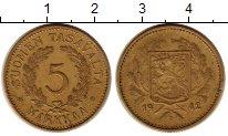 Изображение Монеты Финляндия 5 марок 1942 Латунь XF