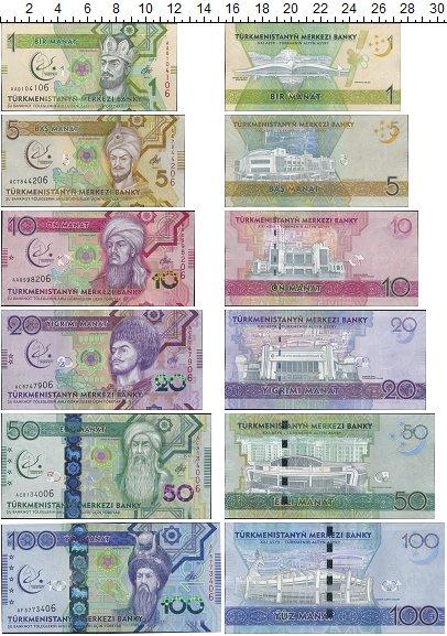 Изображение Банкноты Туркменистан 100 манат 2017  UNC Набор купюр 2017 год