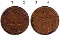 Изображение Монеты Веймарская республика 4 пфеннига 1932 Медь XF D
