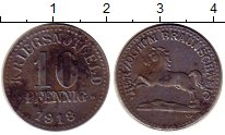 Изображение Монеты Германия Брауншвайг 10 пфеннигов 1918 Медно-никель XF
