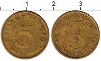 Изображение Монеты Третий Рейх 5 пфеннигов 1939 Латунь XF A