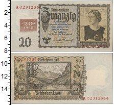 Изображение Банкноты Третий Рейх 20 марок 1948  XF+