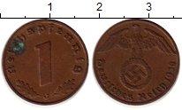 Изображение Монеты Третий Рейх 1 пфенниг 1938 Бронза XF