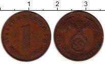 Изображение Монеты Третий Рейх 1 пфенниг 1939 Бронза XF