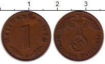 Изображение Монеты Третий Рейх 1 пфенниг 1937 Бронза XF A