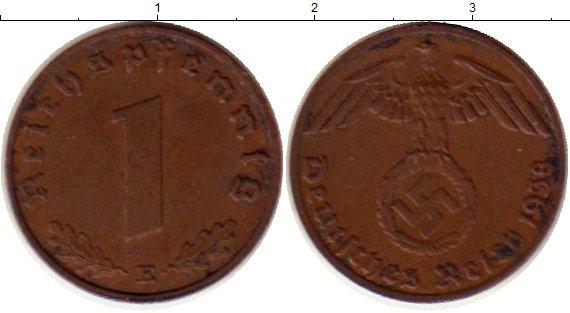 Картинка Монеты Третий Рейх 1 пфенниг Бронза 1938