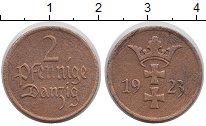 Изображение Монеты Данциг 2 пфеннига 1923 Бронза XF