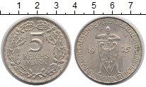 Изображение Монеты Веймарская республика 5 марок 1925 Серебро UNC- 100-летие Рейнвальда
