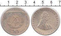 Монета ГДР 20 марок Серебро 1966 UNC-