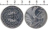 Изображение Монеты Франция 10 евро 2015 Серебро UNC