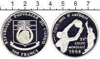 Изображение Монеты Конго 500 франков 1992 Серебро Proof Чемпионат Мира по фу