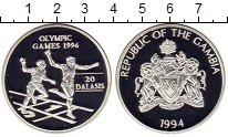 Монета Гамбия 20 даласи Серебро 1994 Proof фото