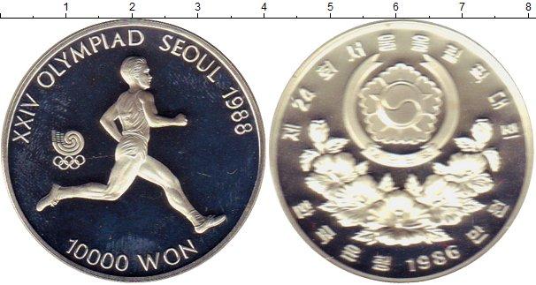 Картинка Монеты Южная Корея 10.000 вон Серебро 1986