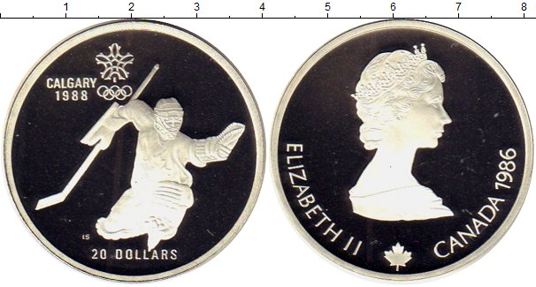 Картинка Монеты Канада 20 долларов Серебро 1986