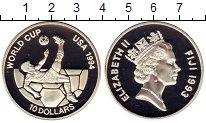 Изображение Монеты Фиджи 10 долларов 1993 Серебро Proof