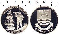 Изображение Монеты Кирибати 5 долларов 1996 Серебро Proof Корабль.Открытие Кир