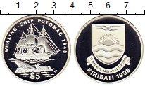 Изображение Монеты Кирибати 5 долларов 1998 Серебро Proof `Китобойное судно ``