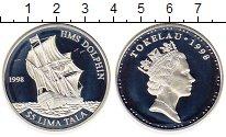 Монета Токелау 5 тала Серебро 1998 Proof фото