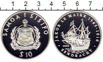 Изображение Монеты Самоа 10 долларов 1996 Серебро Proof Корабль