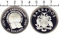 Изображение Монеты Барбадос 25 долларов 1980 Серебро Proof