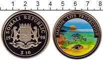 Изображение Монеты Сомали 10 долларов 1998 Медно-никель Proof Охрана дикой природы