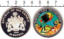 Изображение Монеты Гамбия 50 бутут 1997 Серебро Proof