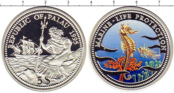 Картинка Монеты Палау 5 долларов Серебро 1995