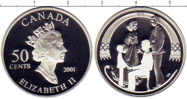 Картинка Монеты Канада 50 центов Серебро 2001