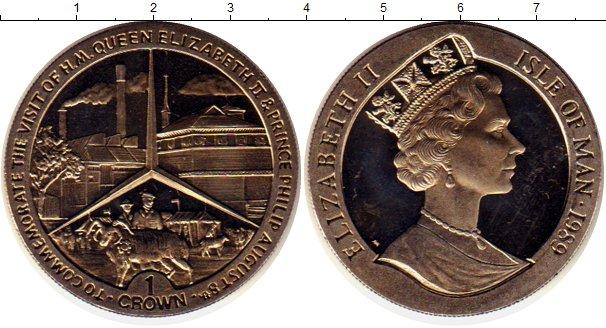 Картинка Монеты Остров Мэн 1 крона Медно-никель 1989