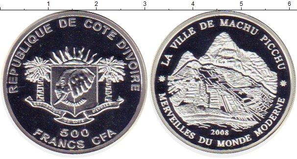 Картинка Монеты Кот-д`Ивуар 500 франков Серебро 2008