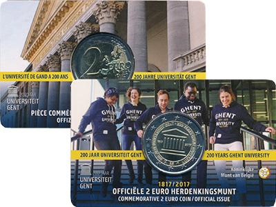 Изображение Мелочь Бельгия 2 евро 2017 Биметалл UNC 200 лет основания Ге