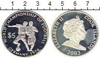 Изображение Монеты Острова Кука 5 долларов 2003 Серебро Proof- Чемпионат мира по фу