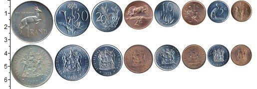 Изображение Наборы монет ЮАР ЮАР 1970 1970  XF В наборе 8 монет ном
