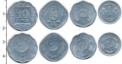Изображение Наборы монет Пакистан Пакистан 1967-1992 0 Алюминий XF В наборе 4 монеты но