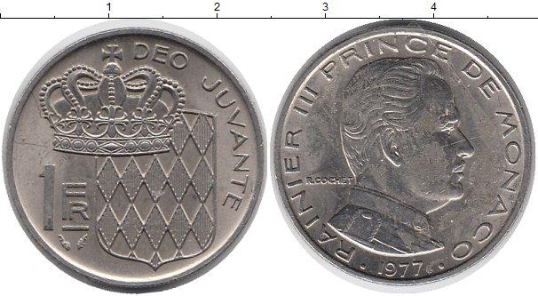 Картинка Монеты Монако 1 франк Медно-никель 1977
