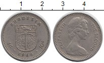 Изображение Монеты Родезия 10 центов 1964 Медно-никель XF Елизавета II. Герб