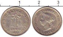 Изображение Монеты Цейлон 10 центов 1897 Серебро XF Виктория