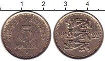 Изображение Монеты Эстония 5 марок 1922 Медно-никель XF
