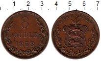 Изображение Монеты Гернси 8 дублей 1858 Медь XF Герб