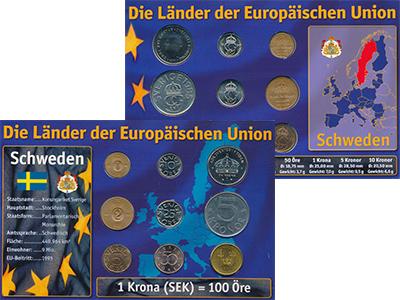 Изображение Подарочные монеты Швеция Набор 1971-2007 годов 0  UNC В набор входит девят