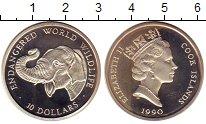 Изображение Монеты Острова Кука 10 долларов 1990 Серебро Proof- Охрана дикой природы
