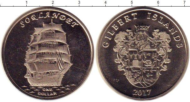 Картинка Мелочь Кирибати 1 доллар Медно-никель 2017