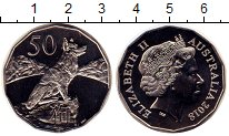 Изображение Монеты Австралия 50 центов 2018 Медно-никель UNC