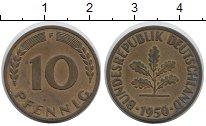 Изображение Монеты Германия ФРГ 10 пфеннигов 1950 Латунь XF