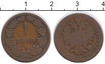 Изображение Монеты Австрия 1 крейцер 1860 Медь VF А,герб