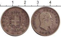 Изображение Монеты Италия 1 лира 1863 Серебро XF Герб