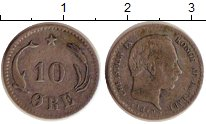 Изображение Монеты Дания 10 эре 1879 Серебро XF Кристиан IX