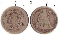 Изображение Монеты США 1 дайм 1875 Серебро VF