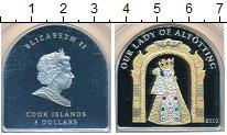 Изображение Монеты Острова Кука 5 долларов 2010 Серебро Proof Our Lady of Alttting