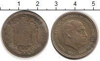 Изображение Монеты Испания 2 1/2 песеты 1953 Латунь VF Франко